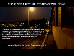 THIS IS NOT A LECTURE. STORIES OF WELLBEING2